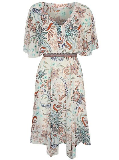 Sale Kimono Mandi Jumbo kimono sleeve patterned dress george at asda