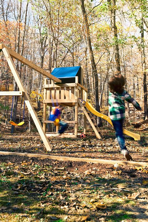 Easy Wooden Swing Set Plans How To Build A Swing Set For Backyard Swing Set Plans