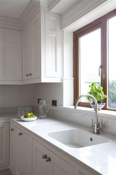 Kitchen Worktops With Integral Sinks Silestone Lagoon Quartz Countertop With Integrated Drain