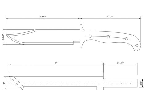 printable knife template knife templates 34 free knife template for kitchen