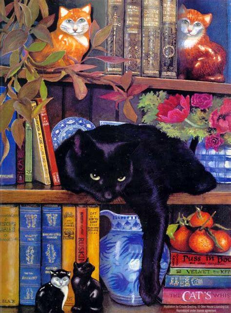 shelf cat jigsaw  sunsout   pieces