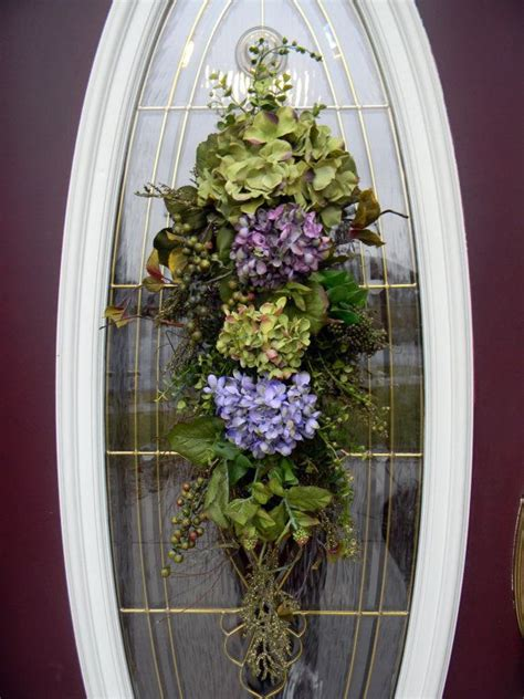 teardrop door swag easter spring pinterest