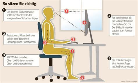 wie sitzt richtig am schreibtisch wie sie im b 252 ro richtig sitzen und verspannungen vermeiden