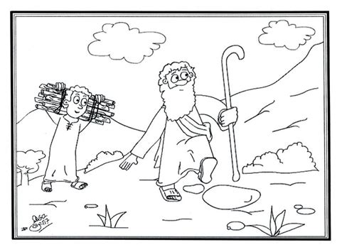 coloring page of abraham and isaac pictures of abraham from the bible coloring home