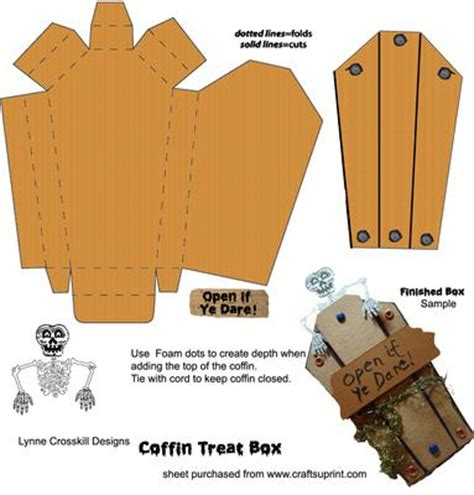 How To Make A Paper Coffin - coffin treat box cup143170 866 craftsuprint