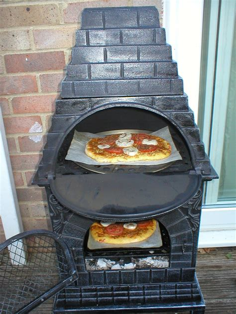 Chiminea Cooking by No Bread Is An Island Pizzas In Wood Fired Chiminea