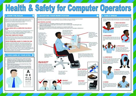 Who Uses A Safety L by Health And Safety For Computer Operators Poster 420x590mm