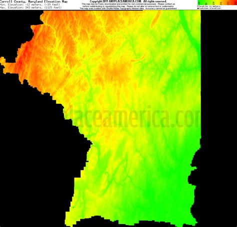 maryland map elevation free carroll county maryland topo maps elevations