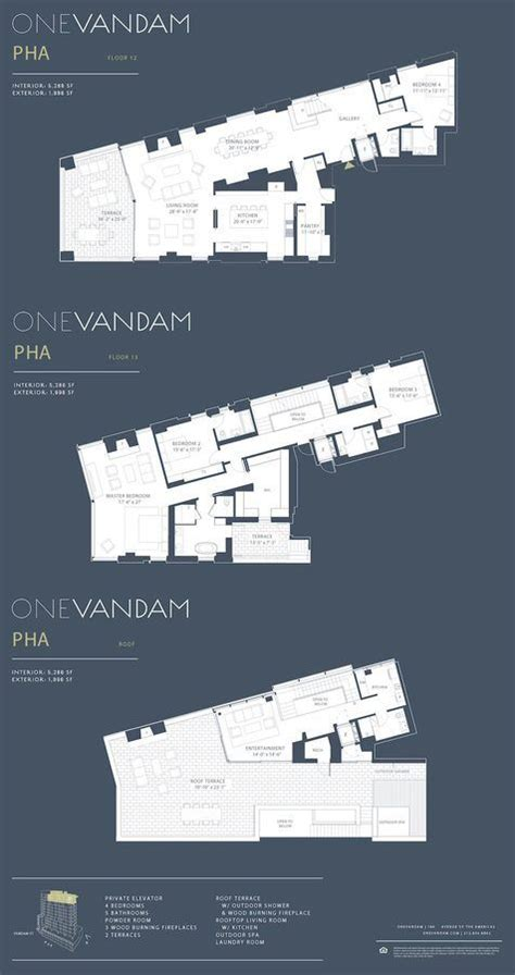 Appartment Floor Plans one vandam s triplex topper wants 28m as other units sell