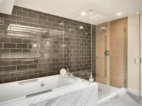 brown subway tile bathroom large tile backsplash kitchen traditional with crown
