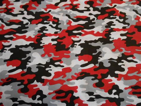 camo fabric com red black white camo cotton fabric by the yard