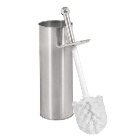 bathroom toilet brushes bath bliss toilet brush holder in chrome 4559 the home depot