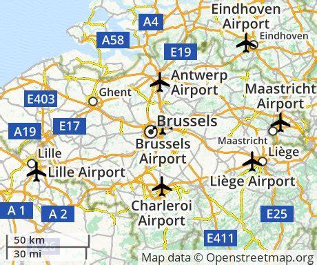 map of belgium airports cheap flights to brussels belgium euroflights info