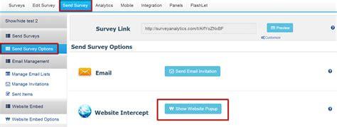 Website Survey Tools - embed in website website intercept questionpro