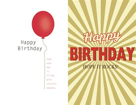birthday card template free birthday card template a more inspired