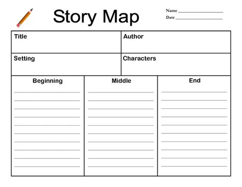 story planner template story map graphic organizers grade best photos of
