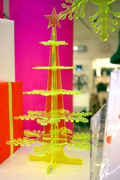 elizabeth bone perspex christmas decorations xmas