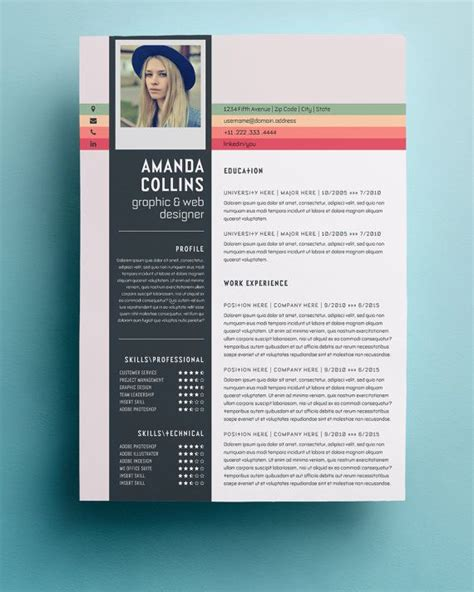 Cool Resume Templates by 17 Best Ideas About Creative Resume Templates On