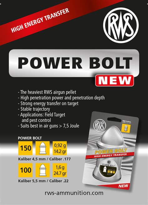 Mimis Rws Power Bolt rws power bolt the heaviest rws air rifle pellet of all time news