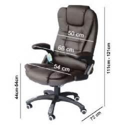 fauteuil de bureau massant novito chocolat achat vente