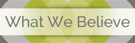 What We Believe what we believe baptist maryville