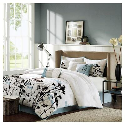 blake 7 piece comforter set blue california king target