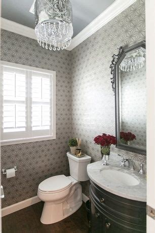 traditional powder room  hardwood floors powder room