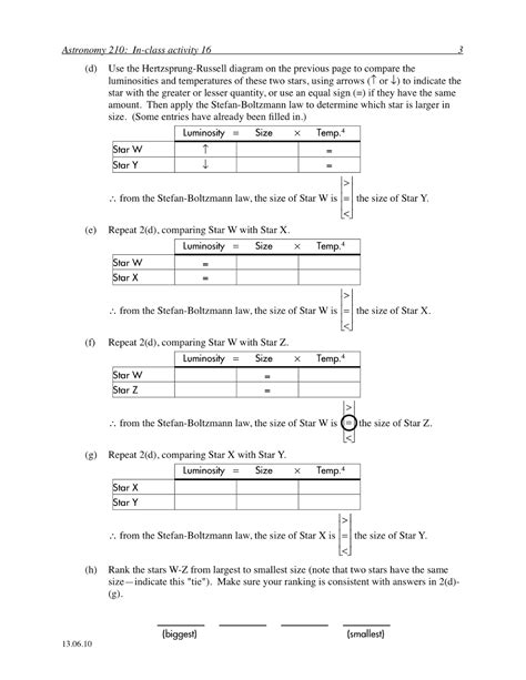 Constant Of Proportionality Worksheet by P S Boring But Important Astronomy In Class