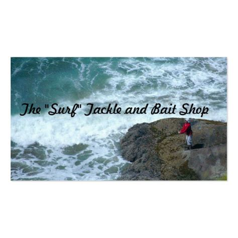 business cards templates surf shop the quot surf quot tackle and bait shop business card zazzle