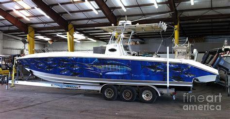 bass boat deck graphics fine art boat wraps digital art by carey chen