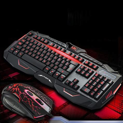 Keyboard Mouse Pc gaming keyboard and mouse set kit usb for computer pc multimedia gamer ebay