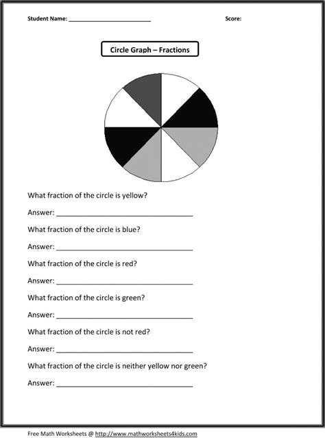 3rd grade math worksheets free printable fractions free