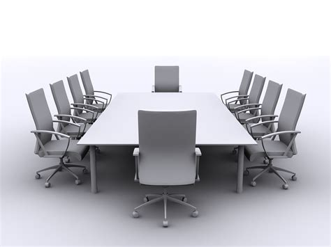 furniture luxurious white modern conference table for