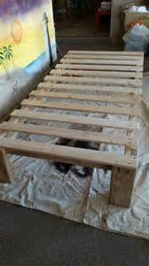 Bed Frame Ideas Diy Best 25 Pallet Platform Bed Ideas On Diy Bed