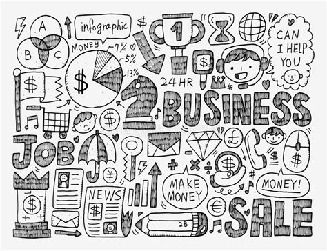 business doodle vector free doodle business element stock vector image 41547540