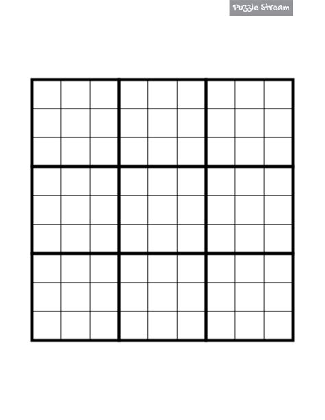 empty grid free printable blank sudoku grids