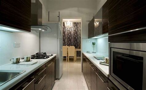 interior design for small kitchen in mumbai modern kitchen with zebrano wood cabinets design by