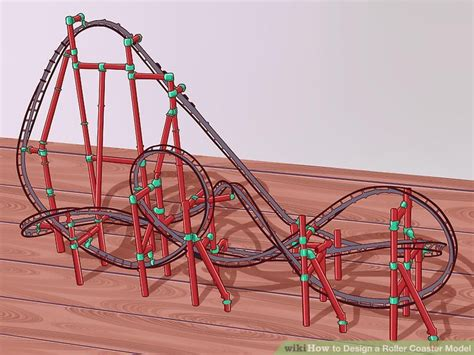 How To Make A Paper Roller Coaster Hill - how to design a roller coaster model with pictures wikihow