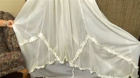 Wedding Dress Made From Saving Parachute by Surprised Wwii Groom Wearing Gown Made Of His