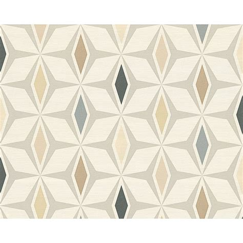 Wall Tile Murals as creation geometric diamond pattern wallpaper retro 60s