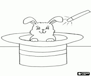 coloring pages magician hat the rabbit from the magician hat coloring page printable game