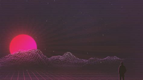 sunset retrowave art wallpapers hd wallpapers id