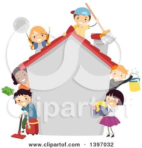cleaning a house with preschoolers don t be silly have royalty free education illustrations by bnp design studio