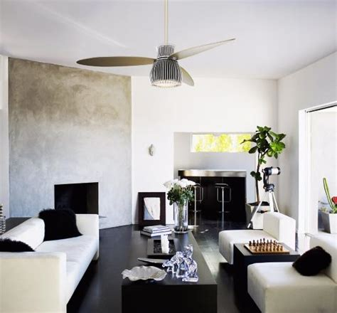 Black Ceiling Fan Living Room A Black And White Living Room With A Minka Aire Uchiwa