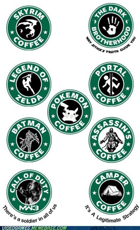 Starbucks Logo Meme - if starbucks made video game logos logos game logo and