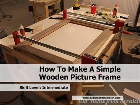 simple wooden picture frame
