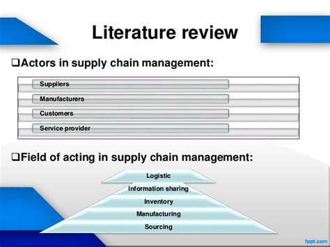 Green Supply Chain Literature Review by Literature Review Of Supply Chain Management