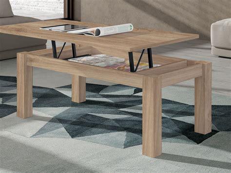 mueble mesa centro elevable comedor madera melamina