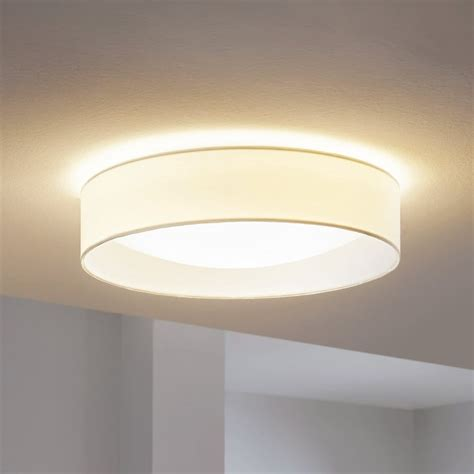 Pasteri Led White Fabric Flush Ceiling Light Playroom Flush Ceiling Lights For Bedroom