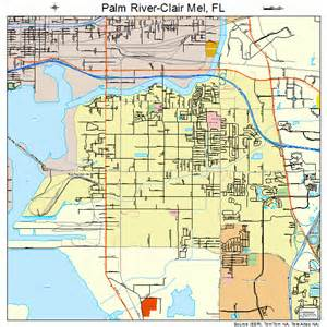 palm river clair mel florida map 1254387
